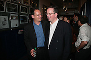 PHILIPPE SANDS AND JULIAN KNOWLES, Opening night of 'Called To Account' The Tricycle  Theatre. London. 23 April 2007.  -DO NOT ARCHIVE-© Copyright Photograph by Dafydd Jones. 248 Clapham Rd. London SW9 0PZ. Tel 0207 820 0771. www.dafjones.com.