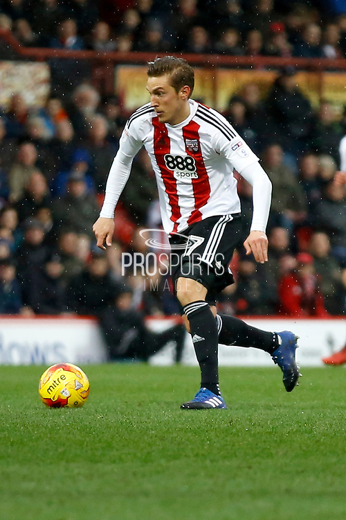 Brentford midfielder Konstantin Kerschbaumer (17) during the EFL Sky Bet Championship match between Brentford and Rotherham United at Griffin Park, London, England on 25 February 2017. Photo by Andy Walter.