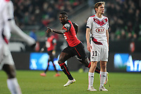 Fotball<br /> Frankrike<br /> Foto: Panoramic/Digitalsport<br /> NORWAY ONLY<br /> <br /> joie Paul Georges Ntep apres son but (Rennes)<br /> Clement Chantome (Bordeaux)