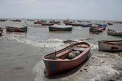 May 3, 2019 - Odisha, India - Cyclone Fani hit Odisha, India and continues to move towards Bangladesh. High tide has already affected many places and all fishing boats and fishermen have returned from the sea. (Credit Image: © Jashim Salam/ZUMA Wire)