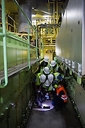 Walking through the Engine room of the Attender