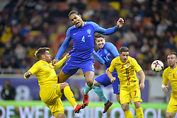 November 14, 2017 - Bucharest, Romania - Netherlands's Virgil van Dijk vies Romania's Mihai Pintilii  during International Friendly match between Romania and Netherlands at National Arena Stadium in Bucharest, Romania, on 14 november 2017. (Credit Image: © Alex Nicodim/NurPhoto via ZUMA Press)