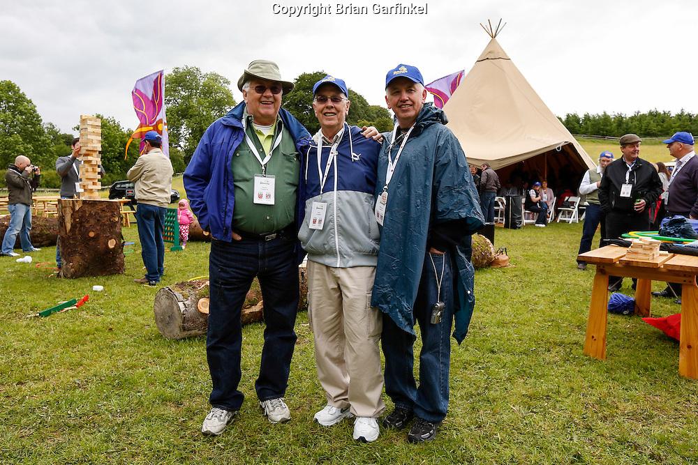 Jame, John, and Michael during the Caulfield/Mulryan family reunion at Ardenode Stud, County Kildare, Ireland on Sunday, June 23rd 2013. (Photo by Brian Garfinkel)