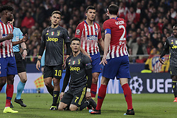 February 20, 2019 - Madrid, Madrid, Spain - Atletico de Madrid's Diego Godin and Juventus' Cristiano Ronaldo during UEFA Champions League match, Round of 16, 1st leg between Atletico de Madrid and Juventus at Wanda Metropolitano Stadium in Madrid, Spain. February 20, 2019. (Credit Image: © A. Ware/NurPhoto via ZUMA Press)