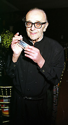 Veteran harmonica player LARRY ADLER at a reception in London on 23rd March 2000.OCE 102<br /> © Desmond O'Neill Features:- 0208 971 9600<br />    10 Victoria Mews, London.  SW18 3PY  photos@donfeatures.com<br /> MINIMUM REPRODUCTION FEE AS AGREED.<br /> PHOTOGRAPH BY DOMINIC O'NEILL