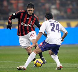 AC Milan's Brazilian midfielder Kaka in action during his team's Italian Serie A match against Fiorentina on January 17, 2009 at San Siro Stadium in Milan. AC Milan defeated Fiorentina 1-0.