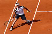 Roland Garros. Paris, France. May 28th 2012.Italian player Potito STARACE against Novak DJOKOVIC.