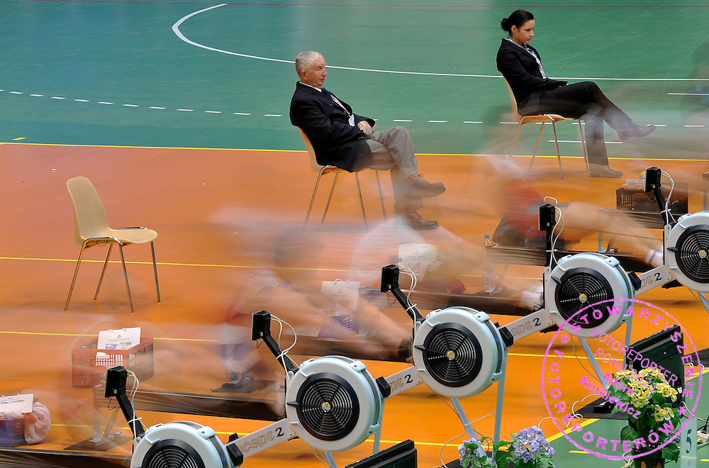 ROWERS COMPETE DURING 20TH POLISH CHAMPIONSHIPS IN ROWING ERGOMETER AT ORBITA HALL IN WROCLAW, POLAND...WROCLAW , POLAND , JANUARY 29, 2011..( PHOTO BY ADAM NURKIEWICZ / MEDIASPORT )