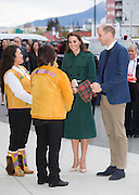 WHITEHORSE -YUKON- CANADA - 27th-Sept 2016. <br /> <br /> The Duke and Duchess of Cambridge arrive in Whitehorse, Yukon on the latest stage of their tour of British Colombia and Yukon Canada. <br /> Prince William and Kate attend a reception and presentation event at the Kwanlin Dun Cultural Centre where they are greeted by:  <br /> the Chief of Kwanlin Dun First Nation, <br /> Ms. Doris Bill and the Chief of the Ta'an Kwach'an, Ms. Kristina Kane.<br /> ©Exclusivepix Media