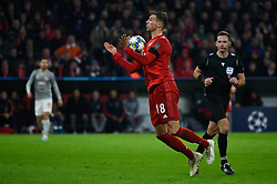 November 6, 2019, Munich, Germany: Leon Goretzka from Bayern seen in action during the UEFA Champions League group B match between Bayern and Olympiacos at Allianz Arena in Munich. (Credit Image: © Bruno De Carvalho/SOPA Images via ZUMA Wire)