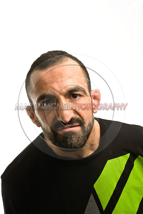 A portrait of lightweight mixed martial arts athlete Reza Madadi