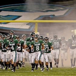 Sep 26, 2009; New Orleans, LA, USA; Tulane Green Wave players run onto the field prior to kickoff against the McNesse State Cowboys at the Louisiana Superdome. Tulane defeated McNeese State 42-32. Mandatory Credit: Derick E. Hingle-US PRESSWIRE