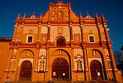 MEXICO, COLONIAL CITIES, CHIAPAS San Cristobal de las Casas, historic capital of highland Chiapas; the Cathedral facade, c1528-1693