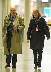 © Licensed to London News Pictures. 01/03/2014.LONDON, UK Jack Dromey and Harriet Harmen arrive. Labour Party Special conference today at Excel London on 1st March 2014.  Photo credit : Stephen Simpson/LNP