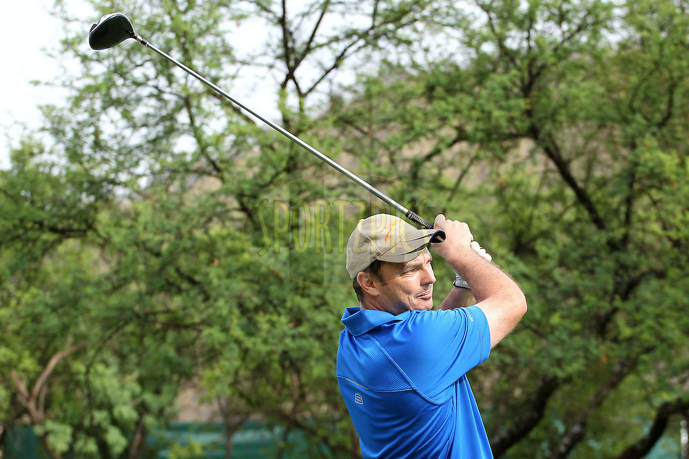 Braam Haasbroek during the 2nd round of the Sanlam Cancer Challenge finals  held at The Gary Player Golf and Country Club at Sun City on the 22nd October 2012...Photo by Ron Gaunt/SPORTZPICS