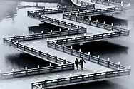 Zigzag Bridges are a traditional Chinese design.