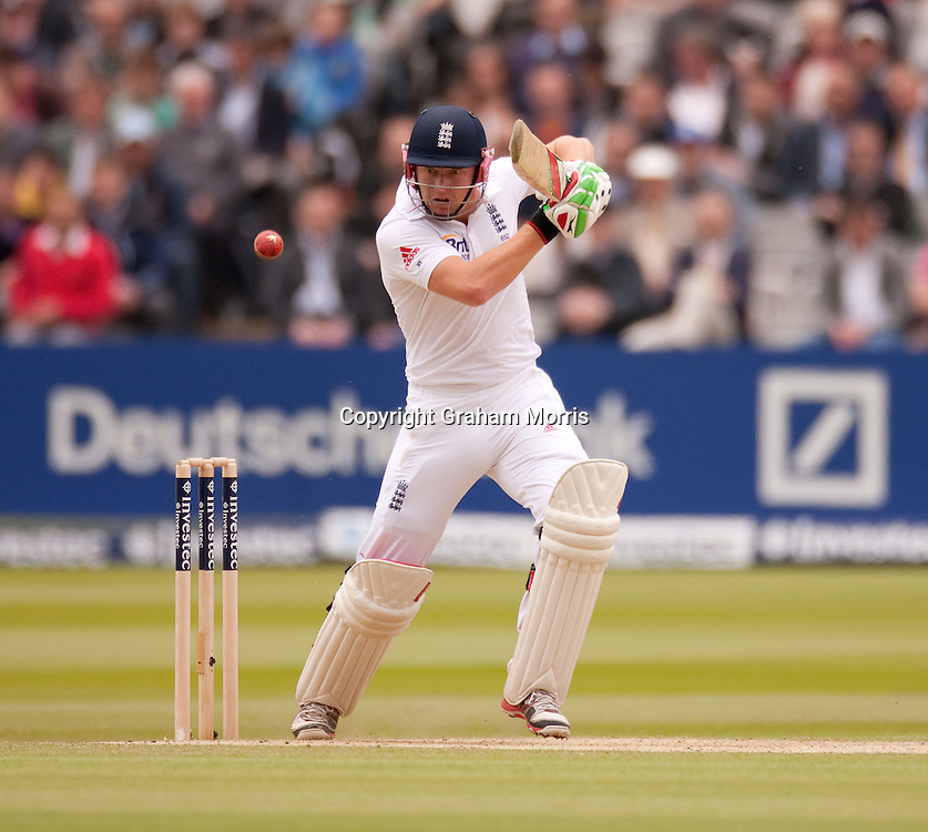 Jonny Bairstow bats during the first Investec Test Match between England and West Indies at Lord's, London.  Photo: Graham Morris (Tel: +44(0)20 8969 4192 Email: sales@cricketpix.com) 19/05/12