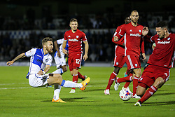 Matt Taylor of Bristol Rovers shoots - Rogan Thomson/JMP - 11/08/2017 - FOOTBALL - Memorial Stadium - Bristol, England - Bristol Rovers v Cardiff City - EFL Cup First Round.