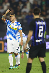 "Foto Filippo Rubin<br /> 07/10/2018 Ferrara (Italia)<br /> Sport Calcio<br /> Spal - Inter - Campionato di calcio Serie A 2018/2019 - Stadio ""Paolo Mazza""<br /> Nella foto: GOAL SPAL ALBERTO PALOSCHI (SPAL)<br /> <br /> Photo Filippo Rubin<br /> October 07, 2018 Ferrara (Italy)<br /> Sport Soccer<br /> Spal vs Inter - Italian Football Championship League A 2018/2019 - ""Paolo Mazza"" Stadium <br /> In the pic: GOAL SPAL ALBERTO PALOSCHI (SPAL)"