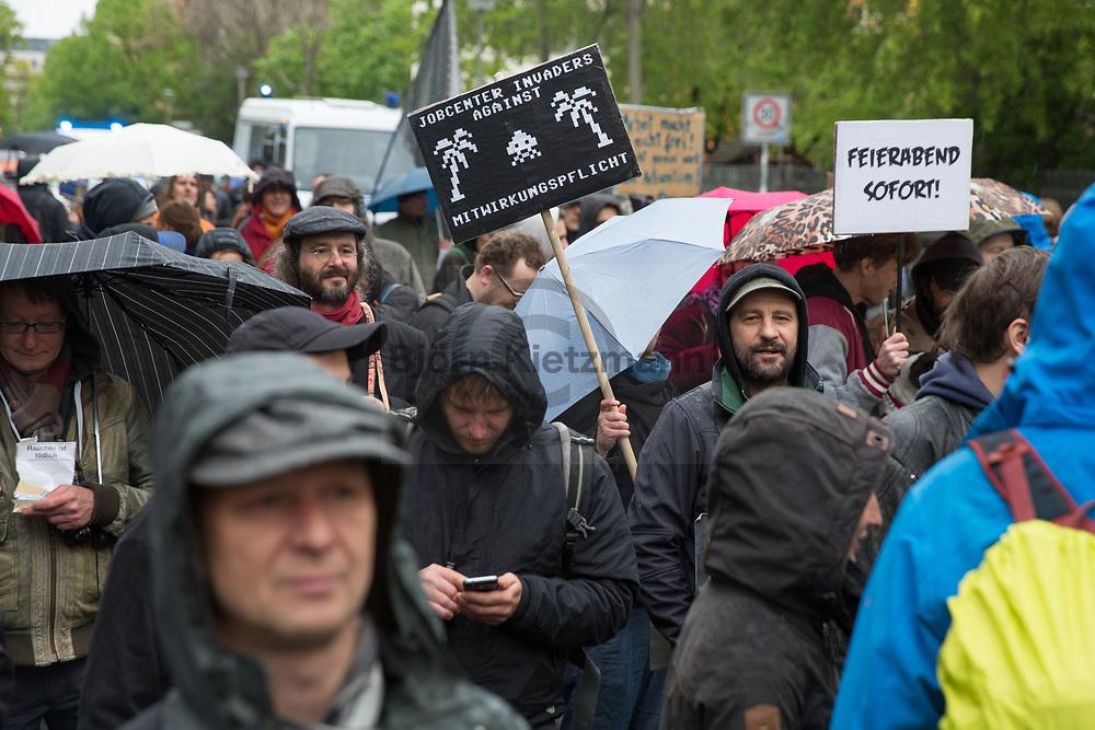 Berlin, Germany - 02.05.2017<br /> <br /> Demonstration &rdquo;day of the unemployed&quot; in Berlin.<br /> <br /> Demonstration &quot;Tag der Arbeitslosen&quot; in Berlin.<br /> <br /> Photo: Bjoern Kietzmann
