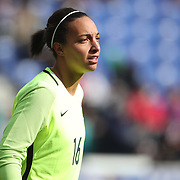 HARRISON, NEW JERSEY- MARCH 4:  Sarah Bouhaddi  #16 of France in action during the France Vs Germany SheBelieves Cup International match at Red Bull Arena on March 4, 2017 in Harrison, New Jersey. (Photo by Tim Clayton/Corbis via Getty Images)