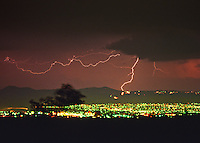 Thunder and lightning storm over the Denver Metro area.  Colorado