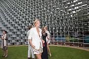 TORI GARM, 2016 SERPENTINE SUMMER FUNDRAISER PARTY CO-HOSTED BY TOMMY HILFIGER. Serpentine Pavilion, Designed by Bjarke Ingels (BIG), Kensington Gardens. London. 6 July 2016