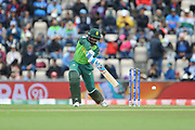 Andile Phehlukwayo of South Africa batting during the ICC Cricket World Cup 2019 match between South Africa and India at the Hampshire Bowl, Southampton, United Kingdom on 5 June 2019.