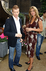 Top chef TOM AIKENS and MISS CELIA WALDEN at Michele Watches Kaleidoscope Summer Garden Party held at Home House, Portman Square, London on 15th June 2005.<br />