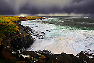 Storm approaching the coast of County Sligo in the west of Ireland.