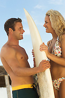 Good-Looking Surfing Couple