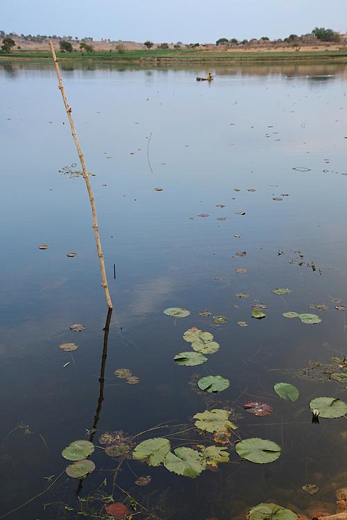 Bangarh Lakenear Bijaipur, Rajasthan,India,Asia.