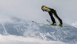 03.01.2015, Bergisel Schanze, Innsbruck, AUT, FIS Ski Sprung Weltcup, 63. Vierschanzentournee, Innsbruck, Training, im Bild Noriaki Kasai (JPN) // Noriaki Kasai of Japan soars through the air during a trainings jump for the 63rd Four Hills Tournament of FIS Ski Jumping World Cup at the Bergisel Schanze in Innsbruck, Austria on 2015/01/03. EXPA Pictures © 2015, PhotoCredit: EXPA/ JFK