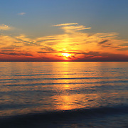 &quot;Lingering Sunset&quot; 2<br /> <br /> Beautiful vibrant yet soothing sunset on Lake Michigan!!<br /> <br /> Sunset Images by Rachel Cohen