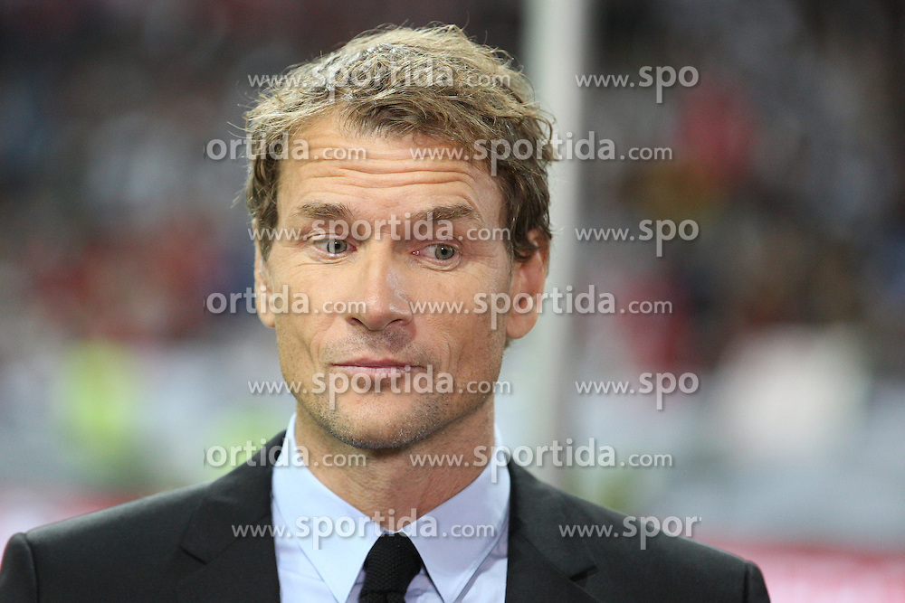 04.09.2015, Commerzbank Arena, Frankfurt, GER, UEFA Euro Qualifikation, Deutschland vs Polen, Gruppe D, im Bild Jens Lehmann (ehemaliger Bundesliga Torwart) // during the UEFA EURO 2016 qualifier Group D match between Germany and Poland at the Commerzbank Arena in Frankfurt, Germany on 2015/09/04. EXPA Pictures &copy; 2015, PhotoCredit: EXPA/ Eibner-Pressefoto/ Sch&uuml;ler<br /> <br /> *****ATTENTION - OUT of GER*****