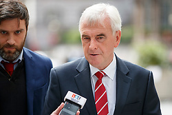 © Licensed to London News Pictures. 11/06/2017. London, UK. Shadow Chancellor JOHN MCDONNELL arrives at BBC Broadcasting House in London on Sunday 11 June 2017. Photo credit: Tolga Akmen/LNP