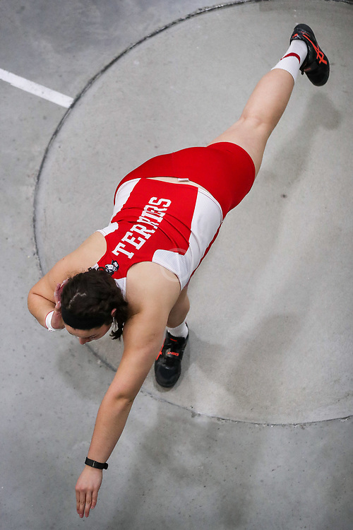Shot Put, Bishop, Boston U<br /> BU Terrier Indoor track meet