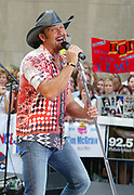 NEW YORK - JULY 4: Singer Tim McGraw visits the set of the Today Show in Rockefeller Center July 4, 2003 in New York City.   (Photo by Matthew Peyton/Getty Images)