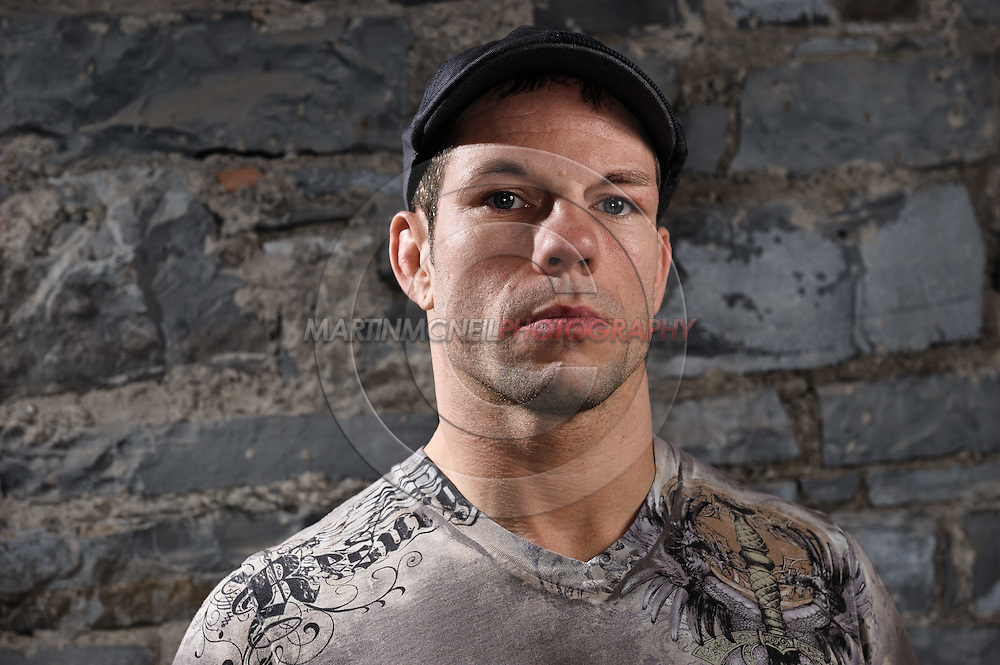 "A portrait of mixed martial arts athlete Marcus ""The Irish Hand Grenade"" Davis"