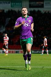 Matt Smith of Bristol City celebrates scoring a goal to make it 1-1 - Photo mandatory by-line: Rogan Thomson/JMP - 07966 386802 - 03/01/2015 - SPORT - FOOTBALL - Doncaster, England - Keepmoat Stadium - Doncaster Rovers v Bristol City - FA Cup Third Round Proper.