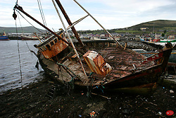 IRELAND KERRY DINGLE 6NOV05 - Wreck of an old fishing boat stranded at the port of Dingle Town on the same named Peninsula, Irelands most westerly county...jre/Photo by Jiri Rezac..© Jiri Rezac 2005..Contact: +44 (0) 7050 110 417.Mobile: +44 (0) 7801 337 683.Office: +44 (0) 20 8968 9635..Email: jiri@jirirezac.com.Web: www.jirirezac.com..© All images Jiri Rezac 2005 - All rights reserved.