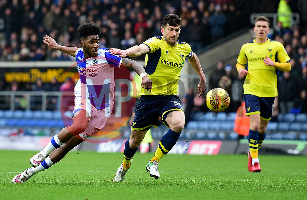 Ellis Harrison of Bristol Rovers Battles for the ball with John Mousinho of Oxford United - Mandatory by-line: Alex James/JMP - 10/02/2018 - FOOTBALL - Kassam Stadium - Oxford, England - Oxford United v Bristol Rovers - Sky Bet League One