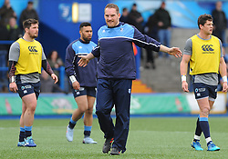 Gothic Jenkins of Cardiff Blues warms up  - Mandatory by-line: Nizaam Jones/JMP- 24/03/2018 - RUGBY - BT Sport Cardiff Arms Park- Cardiff, Wales - Cardiff Blues v Ulster Rugby - Guinness Pro 14