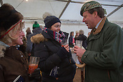 LADY ANDREW HAY; JOANNA COLSON; LORD ANDREW HAY; , Heythrop Point to Point. At a  new course at Cocklebarrow near Aldsworth. 11 January 2014