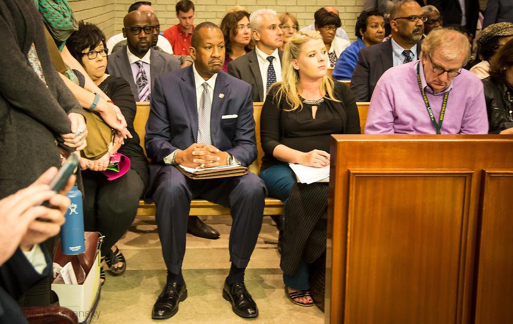 Louisiana Department of Environmental Quality (LDEQ) Secretary Dr. Chuck Brown before addressing the parish council on November 14.