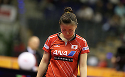 30.01.2016, Max Schmeling Halle, Berlin, GER, German Open 2016, im Bild Ai Fukuhara (JPN) ist frustriert, enttaeuscht // during the table Tennis 2016 German Open at the Max Schmeling Halle in Berlin, Germany on 2016/01/30. EXPA Pictures © 2016, PhotoCredit: EXPA/ Eibner-Pressefoto/ Wuest<br /> <br /> *****ATTENTION - OUT of GER*****