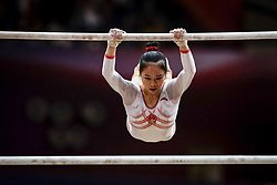 November 2, 2018 - Doha, Qatar - Huan Luo of  China   during  Uneven Bars for Women at the Aspire Dome in Doha, Qatar, Artistic FIG Gymnastics World Championships on 2 of November 2018. (Credit Image: © Ulrik Pedersen/NurPhoto via ZUMA Press)
