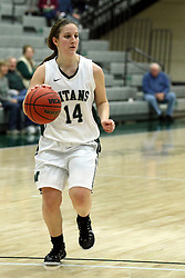 10 January 2015:  Shelby Gray during an NCAA women's division 3 CCIW basketball game between the Carthage Reds and the Illinois Wesleyan Titans in Shirk Center, Bloomington IL