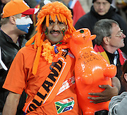 JOHANNESBURG, SOUTH AFRICA- Sunday 11 July 2010, a Dutch fan during the final between Spain The Netherlands (Holland) held at Soccer City in Soweto during the 2010 FIFA Soccer World Cup..Photo by Roger Sedres/Image SA