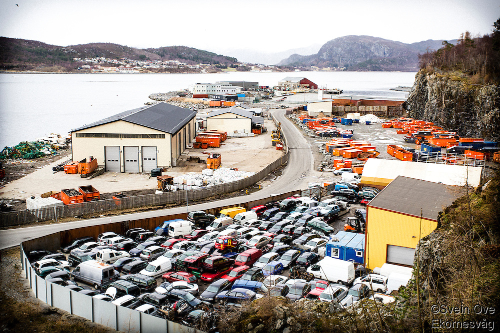 Baksiden av Ålesund.<br /> Foto: Svein Ove Ekornesvåg